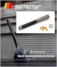 "5"" INCH REAL Carbon Fiber Screw Type Aluminum Radio Roof Antenna Universal"