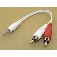 "6"" 3.5mm mini plug to RCA cable output iPod to stereo"