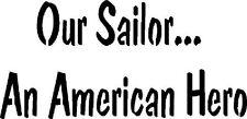 ~Item #126 A Primitive Stencil ~ Our Sailor. An American Her