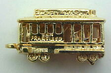 Vintage 14k Gold Movable 3D Powell Mason San Francisco Cable Car Charm Pendant