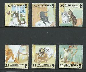 ALDERNEY 1997 ALDERNEY DOMESTIC CATS UNMOUNTED MINT, MNH