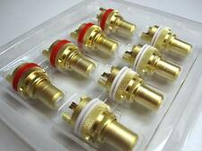 16Pcs Gold RCA Female Socket Chassis Connector Phono Copper Plug Amp HiFi