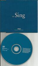 TRAVIS Sing EUROPE Unique Stock Number PROMO DJ CD single USA seller SING1