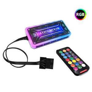 12cm Remote Control Computer Case Fan RGB Controller PC Cooling Chassis ONBE