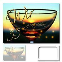 DigitalOase 35. Geburtstag Grußkarte XXL Glückwunschkarte Geburtstagskarten