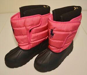 Ralph Lauren Vancouver EZ boot youth girls size 3 pink raspberry winter snow
