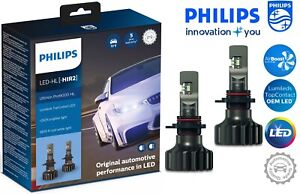 Philips HIR2 Ultinon Pro9000 LED Car Headlight Bulbs +250% 5800K 11012U90CWX2