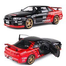 1/18 Solido Nissan R34 GTR Advan Drift Livery 1999 Neuf boite Livraison Domicile