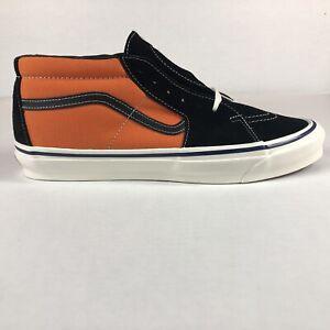 VANS OG Sk8-Mid Lx Skool OG Exuberance Orange & Black Sneakers Mens Size 12
