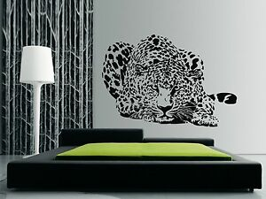 LEOPARD HUNTING Wall Art Quality Vinyl Stickers Decals - also for glass surfaces