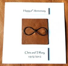 6th Wedding Anniversary Card Iron Anniversary Infinity Personalised