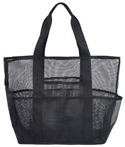Large Mesh Beach Tote Bag Multi-funtional Big Travel Grocery Lightweight