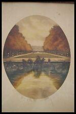 "c.1930 J.Joseph CHABRIDON ORIGINAL ETCHING "" VERSAILLES "" HAND COLOUR & SIGNED"