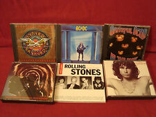 SUPER SIX LOT ROCK CD'S ROLLING STONES,DOORS,AC/DC,GRATEFUL DEAD,LYNRD SKYNYRD