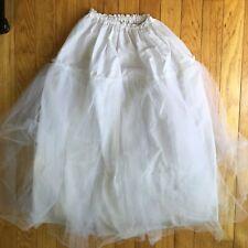 "White Crinoline Skirt Dress Slip Petticoat 22"" - 34"" W"
