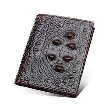 Mens Crocodile Wallet Alligator Genuine Leather Skin Credit Card ID Purse Holder