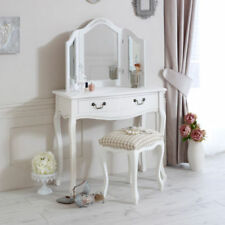 Glass Rectangle French Country Dressing Tables