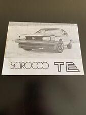 VW Scirocco TE Brochure - Rare