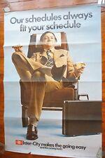 1971 Inter City lässt sich leicht Original British Rail Eisenbahn Poster riesige Quad