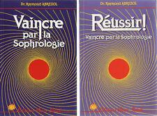 2 Livres : Vaincre par la Sophrologie & Réussir - Raymond Abrezol