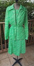 1970s Vintage Green & White Skirt, Top, Jacket Belt Set VTG 60s Melanie of Miami