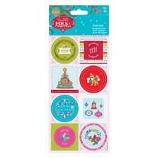 DO-crafts foglio adesivo Biancheria (16pcs) - Folk Natale per le carte/Crafts