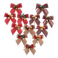 24Pcs Weihnachtsbaumschleifen Weihnachtsschleifen für Weihnachtsbaumschmuck E8U1