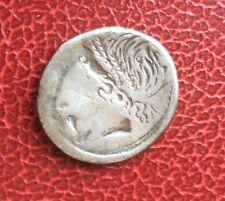 République - L.MEMMIUS ( (109-108 av JC) - Très Rare denier Incus - Brockage