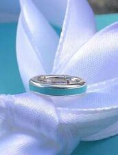 Tiffany & Co. Silver Blue Enamel ♡Charm Clasping Link FREE SHIPPING