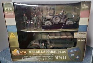 """RARE"" ULTIMATE SOLDIER 21 CENTURY TOYS MERRILLS MARAUDERS 1/18"