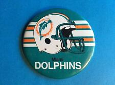 Rare Vintage 1980's Miami Dolphins NFL Football Button Pin A
