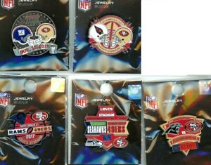 49ers 2017-18 Game Day Pin Choice 4 pins San Francisco Forty Niners seahawks +