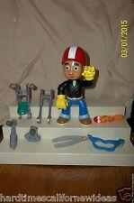 "Disney Handy Manny Biker Lot of 8 Figure 2008 Mattel 8"" Tall Motorcycle Pieces"