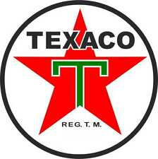 Modern  Classic Texaco Petrol Round Motorsport Vinyl Stickers F1 GP Rally Decals