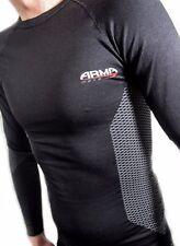 ARMR Moto Thermal Motorcycle Motorbike Sports Base Layer Under Shirt Top Black