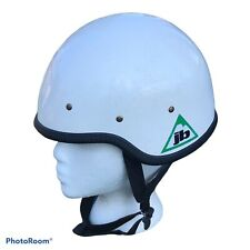 Joe Brown JB Rock Climbing Helmet Caving Fiberglass White Decals Vintage 80's