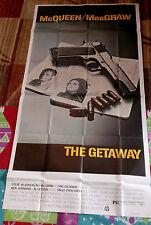 The Getaway 3sh movie poster 41x81 STEVE McQUEEN Ali MacGraw SAM PECKINPAH 1972