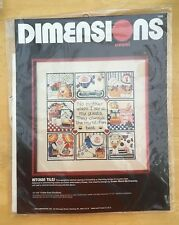 New Vintage Dimensions 'KITCHEN TILES' Crewel Kit NIP