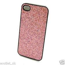 Pink Sparkle Glitter Bling Iphone 4/4s Funda Shell Diamante por orbyx