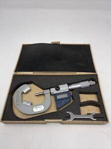"Mitutoyo 314-713-30 Digital V-Anvil Micrometer 1-1.6"" .00005"", With Case"