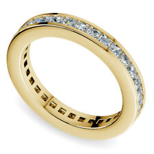 Eternity Diamond Band 2.00Carat Princess Cut G/VVS1 Anniversary Ring Yellow Gold