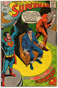 SUPERMAN, Vol. 1 #211 - November 1968 - DC Silver Age Classic!