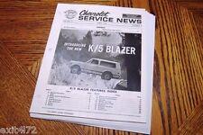 1969 Chevrolet Blazer K/5 Service News Manual Booklet Dana rare vintage