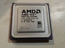 AMD K6 CPU   AMD-K6-233ANR   233 MHz Processor (Gold Scrap / Untested)
