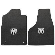 FOR Ram RAM 1500 QUAD CAB PICKUP 2012.5-2016 Front Floor Mats SILVER RAM LOGO 62