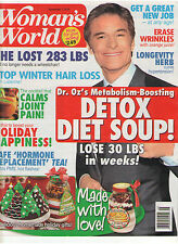 WOMAN'S WORLD NOV 2016 DR. OZ DETOX DIET SOUP HAIR LOSS ERASE WRINKLES HERB