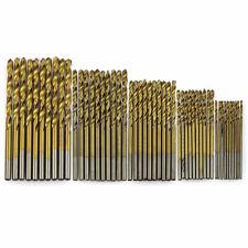 50pcs Titanio Recubierto HSS Alta Velocidad Acero Brocas de taladro metal