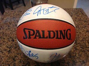 2004-05 PHOENIX SUNS AUTOGRAPHED NBA SPAULDING BALL,JOE JOHNSON,SHAWN MARION