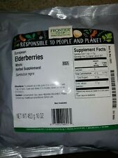Frontier Elderberries whole dried 1 pound (Priority Mail Shipping)