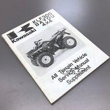 Kawasaki Atv Oem Supplement Manual 99924-1117-51 Kawasaki 89 Bayou 4X4 Klf300